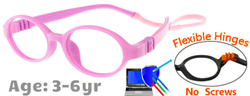 Flexible Kids Glasses G207 Pink + Purple
