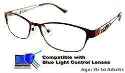 Rosemount - Red Glasses: Compatible with Optional Blue Light Control Lenses