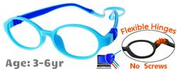 Kids Glasses G207 Blue: Flexible Hinges No Screws