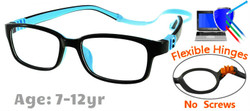 Kids Glasses G7009C11 Black/Blue: Fully Flexible Hinges with No Screws