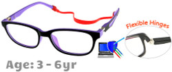 Kids Glasses TR5001 Black Purple