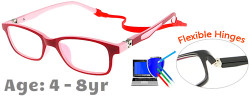 Kids Glasses TR5011 Red Pink: Flexible Hinges