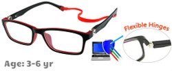 Kids Glasses TR5015 Black Red
