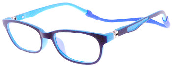 (1) Kids Glasses TR5001 Dark Blue with Flexible Hinge and Strap