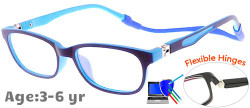 Kids Glasses TR5001 Dark Blue: Flexible Hinges