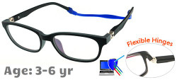 Kids Glasses TR5001 Black Grey