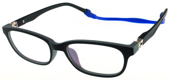 (1) Kids Glasses TR5001 Black Grey with Flexible Hinge and Strap