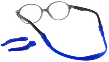 Kids Glasses TR5003 Black Grey with Strap and Ear Hooks