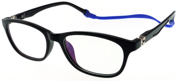 (1) Kids Glasses TR5008 Black with Flexible Hinge and Strap
