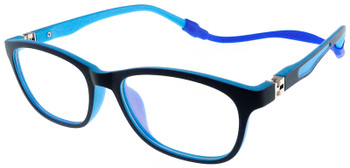 (1) Kids Glasses TR5008 Dark BLUE with Flexible Hinge and Strap (note: frame front is a very dark blue color)