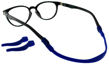 Kids Glasses TR5012 Black  with Strap and Ear Hooks