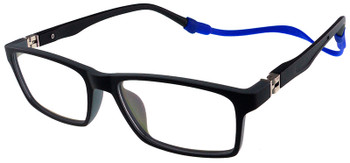 (1) Kids Glasses TR5013 Black Grey with Flexible Hinge and Strap