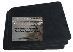 M2P Reusable Anti-Fog Wipes (Packs of 9 - Comes with Resealable Pouch)