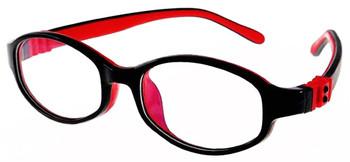 Kids Glasses Flexible G7002 Black Red