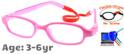 Flexible Kids Glasses C6006 Pink