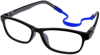 (1) Kids Prescription Glasses with flexible hinges C6011 - Black Grey