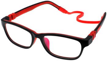 (1) Kids Prescription Glasses with Bendable Hinges - G6010 Black/Red