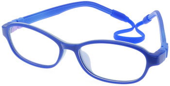 Kids Glasses C6005 Blue  together with Strap and Ear Hooks