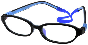 Kids Glasses C6001 Black Blue  together with Strap and Ear Hooks