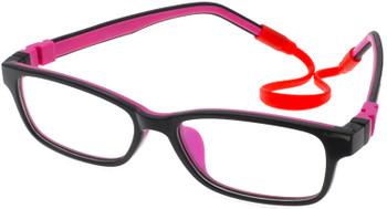 (1) Kids Prescription Glasses with flexible hinges C6002 Black Purple