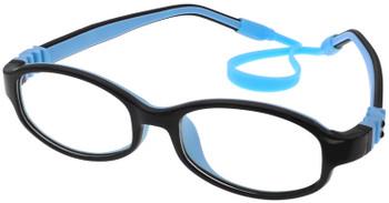 (1) Kids Glasses Flexible G7002 Black Blue