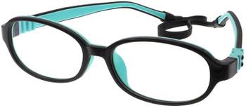 Kids Glasses G213 Black Aqua  together with strap and Ear Hooks