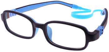 (1) Kids Prescription Glasses with Flexible Hinges G210 Dark Blue