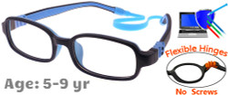 Kids Glasses G210 Dark Blue: Flexible Hinges with No Screws