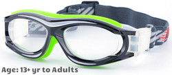 Prescription Sports Goggles BL028 Black Green