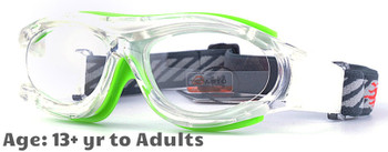 Prescription Sports Goggles BL028 Clear Green