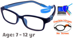 Kids Glasses G7009C30 Black/Blue: Fully Flexible Hinges with No Screws