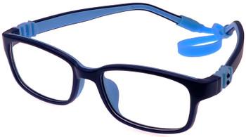(1) Kids Prescription Glasses with Flexible Hinges G7009C30 Blue