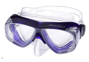 (1) TUSA M40 Splendive IV Prescription Diving Mask in Cobalt Blue