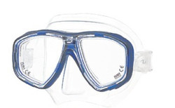 (1) TUSA M28 Geminus Prescription Diving Mask in Blue