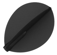 Fit Flight - Teardrop - Dark Black - 6 pack