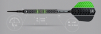 Target Vapor 8 Black - Green - Soft Tip Darts - 18g