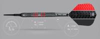 Target Vapor 8 Black - Red - Soft Tip Darts - 19g