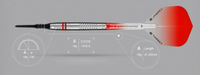 Target Colours II Red - Soft Tip Darts - 18g