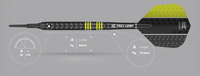 Target Vapor 8 Black - Yellow - Soft Tip Darts - 19g
