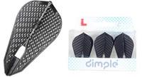 L-Style - Champagne Flights - Fantail (L9d) Dimple - Black
