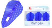 L-Style - Champagne Flights - Fantail (L9d) Dimple - Blue
