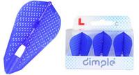 L-Style - Champagne Flights - Fantail (L9d) Dimple - Blue