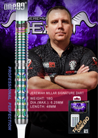 "One80 Signature Soft Tip Darts - Jeremiah ""the Beast"" Millar - 18g"