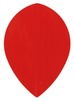 TDZ Hard Poly Flights - Teardrop - Red