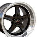 "17"" Fits Ford®  Mustang® Cobra R Wheels Black 17x10.5 Rims"