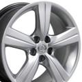 "18"" Fits Lexus GS Wheels Hyper Silver Set of 4 18x8"" Rims"