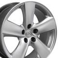 "18"" Fits Lexus LS460 Toyota Wheels Hyper Silver Set of 4 18x8 Rims"