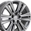 "17"" Fits Lexus ES 350 Double Spoke Wheels PVD Chrome Set of 4 17x7 Rims"