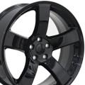 """20"""" Dodge Charger SRT 8 Challenger SRT8 Chrysler 300 Magnum Wheels Black Set of 4 20x8 Rims Hollander 2360"""
