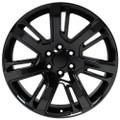 "22"" Cadillac Escalade Premium Style GMC 2015 Gloss Black Wheels Set of 4 22x9"" Rims"